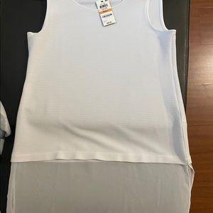 Alfani white-sheer tunic